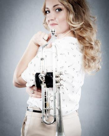 Female trumpet player in Dubai