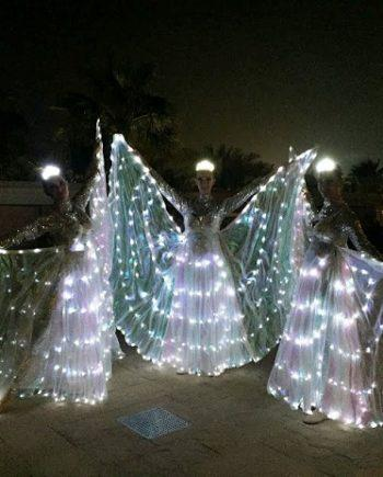 LED butterflies performance in Dubai
