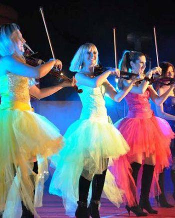 LED string quartet in Dubai