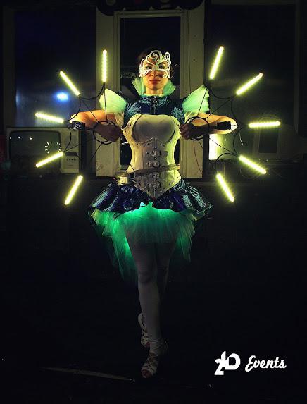 Neon show in Dubai