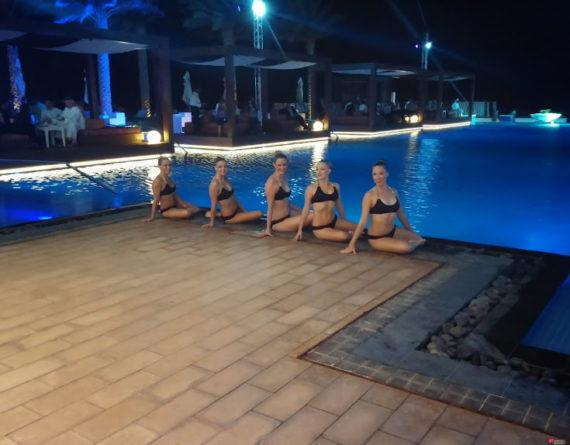 Synchronized swimmers in Dubai