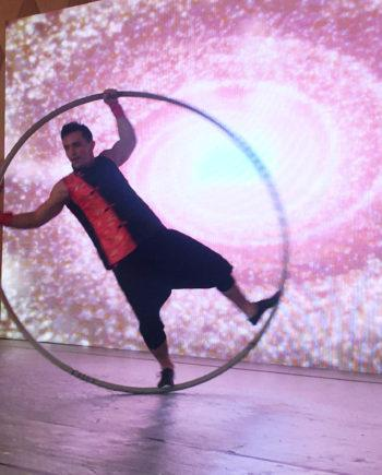Cyr Wheel Show in Dubai