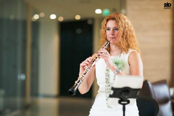 Female oboe player in Dubai