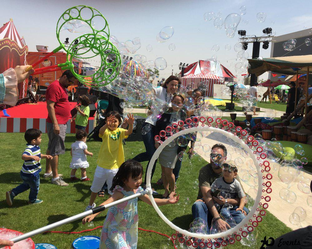 2ID - BUBBLE SHOW FOR THE PUBLIC EVENT