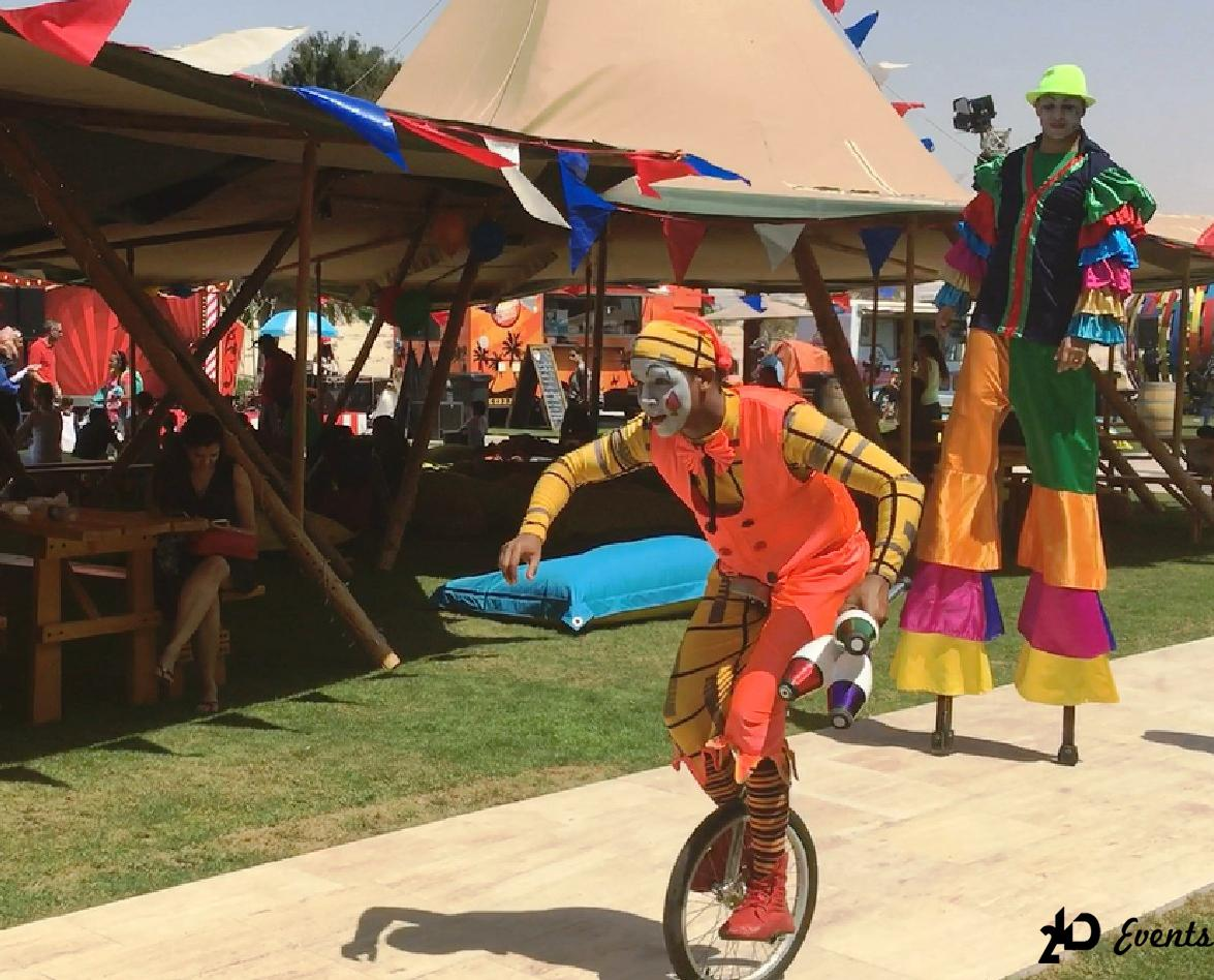2ID - UNICYCLE ARTIST FOR THE PUBLIC EVENT