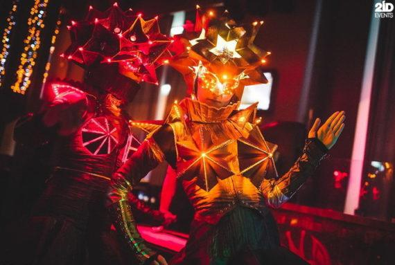 LED Origami Dance Show in Dubai