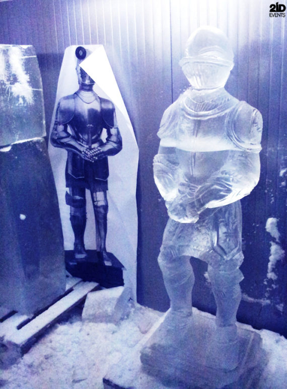 Ice sculpture in Dubai