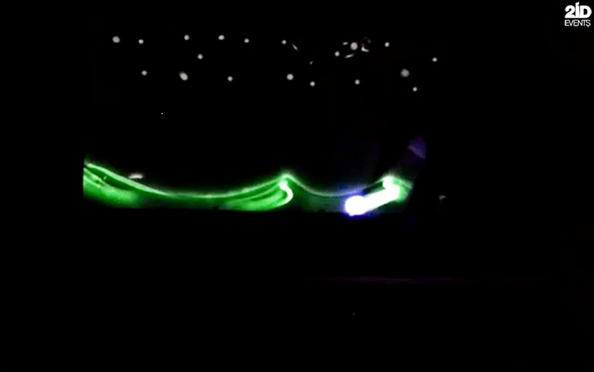 PAINTING BY THE LIGHT SHOW FOR THE ANNUAL MEETING