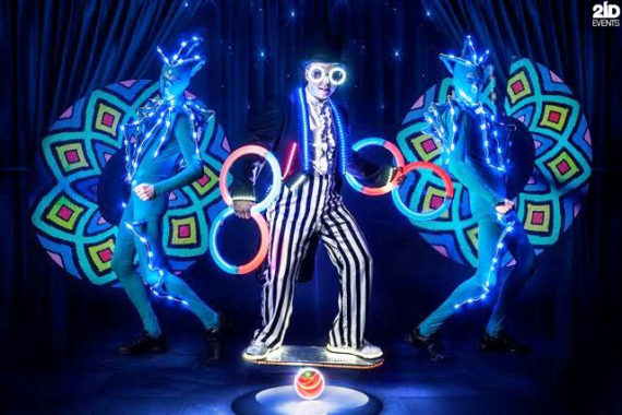 LED Juggler in the UAE