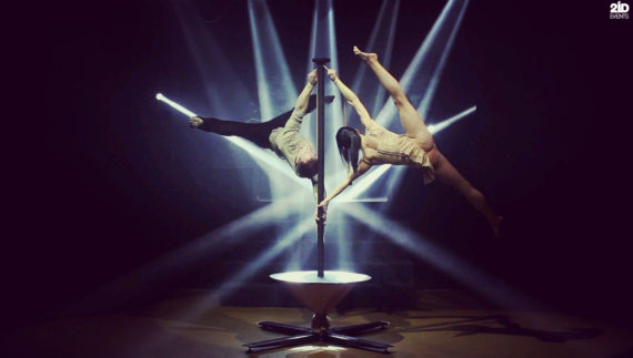Swirling Pole Show in Dubai
