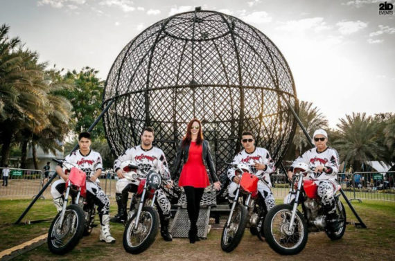 Steel Globe Motorcycle Stunt Show in Dubai