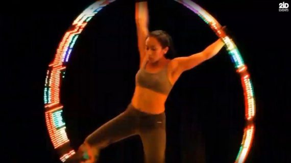 LED Female Cyr Wheel in Dubai