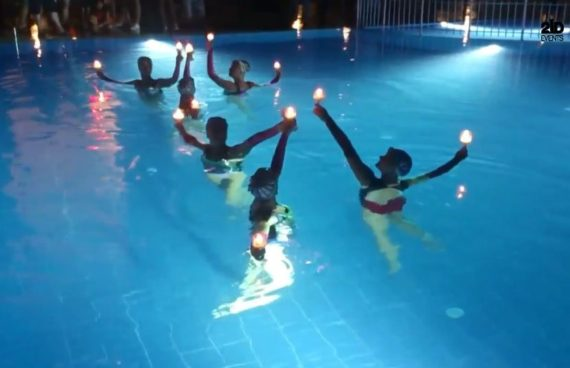 Female Synchronized Swimmers Group in Dubai