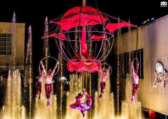 Aerial Acrobats Show in the UAE