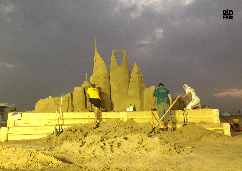 2 31 - SAND SCULPTURE FOR FESTIVAL IN THE KSA