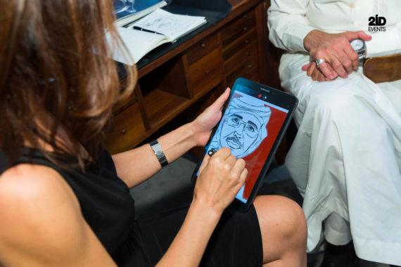 FEMALE CARICATURIST IN THE UAE