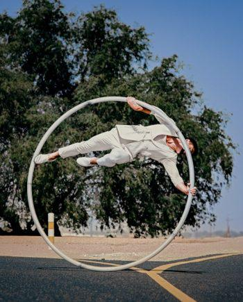 CYR WHEEL ACROBAT IN THE UAE
