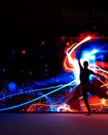Dance with videoprojection