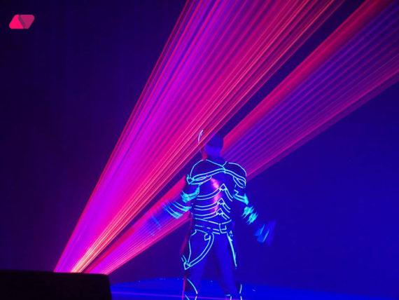 LASER ROBOT SHOW IN DUBAI