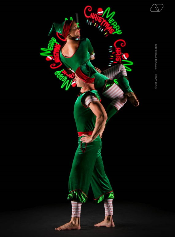 CHRISTMAS THEME ACROBATIC ARTISTS IN DUBAI