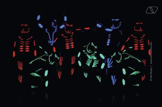 LED FREESTYLE SHOW IN DUBAI