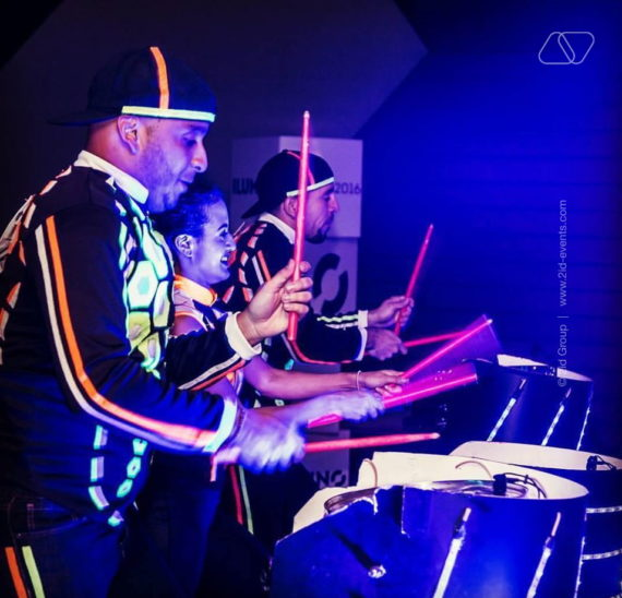 DANCING PERCUSSIONIST SHOW IN DUBAI