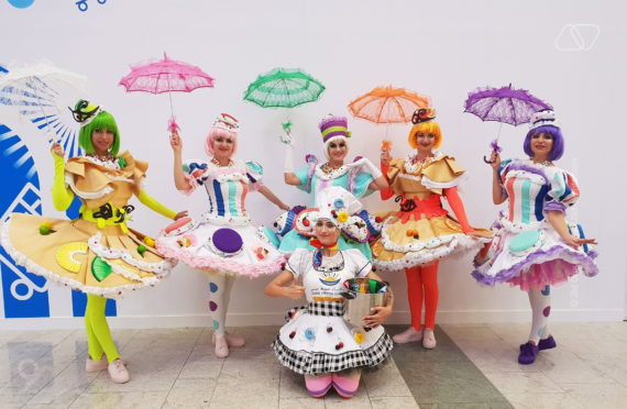 CANDY GIRLS for promotion for children party for event for birthday party